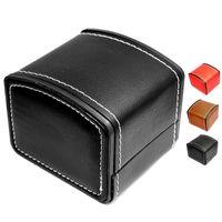 relojes de almohada al por mayor-Reloj de lujo, caja de regalo, caja de cuero, con almohada, reloj de joyería, embalaje para brazalete, reloj de pulsera, caja DLH149