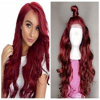28 inç sentetik saç toptan satış-Sentetik Dalga Peruk Dantel Ön Peruk Uzun Saç 14-26 inç Siyah Kadınlar Için Moda Peruk Ayarlanabilir