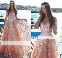 Wholesale african art for sale - 2019 Exquisite Arabic African Off The Shoulder Pink Floral Evening Dresses Beaded Appliques A Line Sweep Train Prom Dresses Custom Made