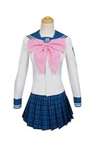 Wholesale sailor woman costume online - Danganronpa Sayaka Maizono Cosplay Costume School Uniform Sailor Dress Custom