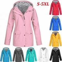 Wholesale warm jacket waterproof windbreaker resale online - Striped Outdoor Jackets Women Winter Solid Pocket Waterproof Sunscreen Tracksuits Sports Coat Warm Home Clothing OOA6329