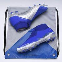 calzado deportivo para hombre al por mayor-Zapatos para hombre de alta del tobillo botas de fútbol Deportes Phantom VSN Elite FG fútbol DF x J x PSG Phantom Vision FG exterior Tacos de fútbol