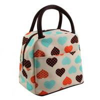 модный мешок для пикника оптовых-Fashion Portable Insulated Canvas lunch Bag Thermal  Picnic Lunch Bags for Women kids Men Cooler Box Bag Tote