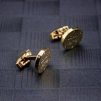 cufflinks venda venda por atacado-Abotoaduras de Festa de homem de Alta Qualidade Dos Homens de Ouro 18 k Abotoaduras mens algemas de casamento de Jóias em Venda