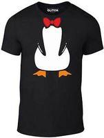 Wholesale blue men s bow tie resale online - Penguin Suit T Shirt Funny t fancy dress joke cute animal bow tie cool