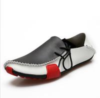 cuir d'appel achat en gros de-mocassins pour hommes, chaussures de sport oxford pour hommes, mocassins de créateur pour hommes, glissières de designer pour hommes, chaussures en cuir de sex-appeal pour hommes élégants