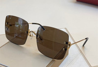 lentille rouge lunettes de soleil femmes achat en gros de-Lunettes de soleil de luxe 0153 pour les femmes Designer populaire Fashion Summer cadre saure Style Top qualité protection UV Lens viennent avec paquet rouge
