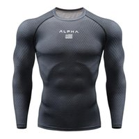 Wholesale long sleeves compression shirt for sale - Group buy Fashion Lead Newst Running Shirt Men Bodybuilding Sport T shirt Long Sleeve Compression Top Gym T Shirt Men Fitness Tight Rashgard MMA Male