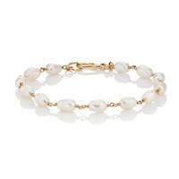 ingrosso perle di keshi d'acqua dolce-bracciale in oro bianco 18 carati lucido luminoso perle bianche keshi Per donna bracciali di perle d'acqua dolce elegante