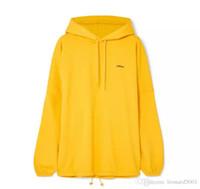 ingrosso giallo loghi della giacca-18FW BLCG LOGO Ricami Felpe con cappuccio oversize di colore giallo Moda Uomo Donna Coppia Felpe con cappuccio Felpe con cappuccio Hip Hop di alta qualità BL giacca BB
