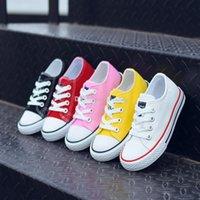 boş zaman bebek ayakkabıları toptan satış-Çocuklar ayakkabı bebek tuval Sneakers Nefes Eğlence tasarımcı ayakkabı çocuk erkek kız düşük üst Ayakkabı 5 renkler C6555