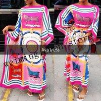 traditionelle kleider für damen großhandel-Kleidlänge: 128cm Fehlschlag: 176cm.Kleider für Frauen / Dame, elegantes übergroßesDress afrikanische traditionelle Druckkleider für Damen / Frauen