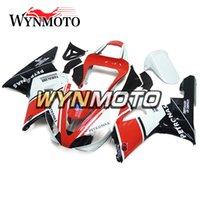 yamaha aftermarket groihandel-Aftermarket Bodywork Kit für Yamaha YZF1000 R1 2000 2001 Komplette Fahrradkarosserie R1 00 01 Aftermarket Motorrad OEM Weiß Rot Schwarz Rumpf