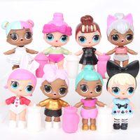 satılık büyük bebekler toptan satış-Satılık bir torbada 8 modelleri 9 cm sürpriz bebek spreyleyebilir su sevimli büyük gözler güzellik bebek kızlar için hediyeler