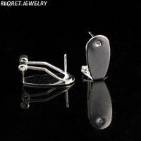 Wholesale cheap women costume jewelry online - pairs pieces Fingernail Posts Earrings silver Clip on earrings for women cheap costume jewelry piercing earring