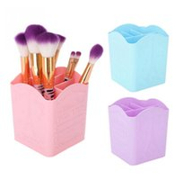 художественные ячейки оптовых-4 Cells Nail Tools Storage Box Organizer Dotting Pen Nail Art Brush Holder Nail Polish Container Makeup Brushes Display Shelf