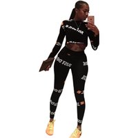 Wholesale polyester tracksuits for women resale online - Plus Size Joggers Pants TWO PIECE SET Tracksuit Track Suits Leisure Sweatsuits For Women Clothing Costumes Spring Tops pants