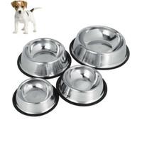 ingrosso cuccioli di ciotola cucciolo-Ciotole per cani in acciaio inox per cani Ciotole per cani in acciaio inox per cani e gatti Ciotole per gatti Ciotole per animali 5 pezzi