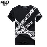 nueva camisa de té al por mayor-Nueva camiseta DS2 moda hombre alta calidad 100% algodón manga corta camiseta moda de verano marca de ropa de los hombres impresión de la letra 229