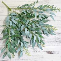 sahte yeşillik toptan satış-Yapay Yapraklar Buket Sahte Söğüt Orman Düğün Zemin Dekorasyon Noel Sahte Yeşillik Vine Parti Ev Dekor Bitki Noel