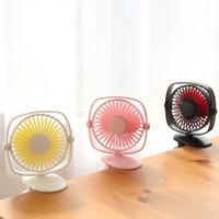 Wholesale usb clip fan resale online - Usb charging small fan mini silent clip fan baby carriage clip fan handheld