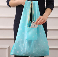 Wholesale Foldable Shopping Bags Nylon Reusable Grocery Storage Bag Eco Friendly Shopping Bags Tote Bags W35 H55cm Convenient Storage Bag styles