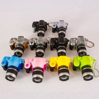 Wholesale imitation cameras for sale - Group buy Glowing sound imitation camera necklace men and women creative imitation SLR pendant student car jewelry key ring pendant Free delivery
