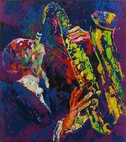 nackter kunstmann großhandel-Leroy Neiman Sax Mann, Home Decor HD gedruckt moderne Kunst Malerei auf Leinwand (ungerahmt / gerahmt)