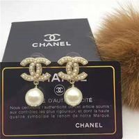 nadel für perle großhandel-2019 neue Perle Dame Ohrringe, süße Modeschmuck, Messing, 925 Silber Nadel,