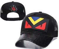 ingrosso cappelli in rete hip hop-Lusso donna uomo cappelli nuovo progettista di marca estate stile maglia berretto da baseball avanguardia patchwork osso moda strada danza copricapo hip hop cap