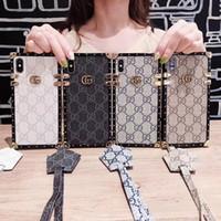 ingrosso pezzi di cordicella-Custodia di lusso per iPhone Xr One Piece di fascia alta per iPhone 7 8 Plus, nuova cover posteriore firmata con cordino