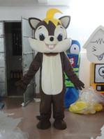 ingrosso costume da abito scoiattolo-2019 vendita diretta della fabbrica Brown Squirrel Party Costume xmas Scoiattolo Mascotte Outfit Halloween Chirastmas Party Fancy Dress Mascotte Costumi