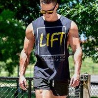 camisetas deportivas para hombre al por mayor-2019 Nueva Moda Fitness Tank Top Hombres Deportes Culturismo Ropa Gimnasios Stringer Chalecos Hombres Sin mangas Camisa Algodón Singlets Muscle Tops