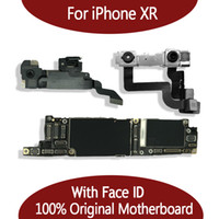 For iPhone XR 100% Unlocked Original Motherboard With Face ID 64GB 128GB IOS Logic board With Full Chips Mainboard For Replace
