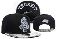 siyah yılan derisi el feneri kapağı toptan satış-Siyah Yılan Derisi Trukfit Snapback Şapka Ayarlanabilir Strapback Şapka TRUKFIT Snapback Siyah Pamuk Erkekler TYMY Caps