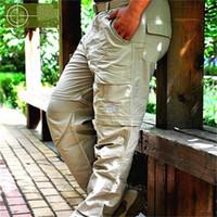 calças lycra verde venda por atacado-Europa rússia japão verão homens de secagem rápida calças de treinamento forte lycra chiffon ao ar livre calças compridas marrom verde respirável calças esportivas