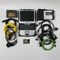 bmw icom a2 laptop großhandel-2019 neueste MB Star C5 sd verbinden und icom A2 für bmw vollen satz cf19 laptop 2in1 festplatte gebrauchsfertig schnelles verschiffen