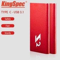 ssd harici sürücüler toptan satış-KingSpec SSD Harici sabit disk hd externo 1 t usb 3.1 taşınabilir SSD 128 GB 256B pendrive USB flash kalem sabit disk