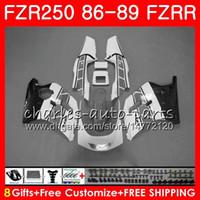 yamaha fzr al por mayor-Cuerpo para YAMAHA FZRR FZR 250R FZR250R 86 87 88 89 123HM.98 FZR250 86 Gris negro stock FZR-250 FZR 250 FZR250RR 1986 1987 1988 1989 Carenados