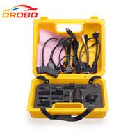 lanzamiento de adaptadores al por mayor-Nueva herramienta de diagnóstico Lanzamiento X431 Conector iDiag conjunto completo Paquete X-431 adaptador easydiag caja amarilla Envío gratis