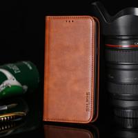 Wholesale xperia black case online – custom Leather Wallet Phone Case Cover for Sony Xperia X XA XA1 XA2 XA3 No Magnet Business Vintage Design Simple