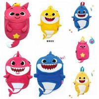 Wholesale shark art for sale - Baby Shark Children Backpacks Cartoon D Animal Printed Kids Kindergarten Shark Money Outdoor Travel Bag LJJO6285