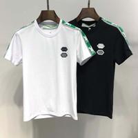 ingrosso mens polo v collo-T-shirt manica corta da uomo di moda 2019 T-shirt casual T-shirt da uomo stampa di alta qualità T-shirt da uomo maglietta estiva T-shirt da polo di skateboard