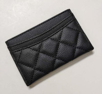 Wholesale dresses vip for sale - Group buy NEW classic fashion Mini Wallet with holder famous logo black PU bag card holder Coin bag Luxury VIP gift