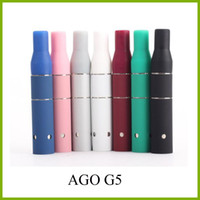 Wholesale g5 dry vaporizer for sale - Group buy Ago G5 Atomizer Dry Herb Chamber Cartridge Vaporizer Clearomizer for Wind proof E Cigarette Dry Herb Pen style Electronic cigarette