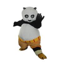 panda fantasia venda por atacado-Venda direta da fábrica adulto Kungfu Panda Mascot Costume urso Traje Da Mascote KungFu Tiger Fancy Dress Frete Grátis