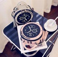 borla redonda bolso negro al por mayor-Horologe Totes Moda Bolso de hombro Negro Rosa Gris Reloj Cruz Cuerpo Borla Forma redonda Característica Cruz Cuerpo