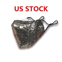 Discount fashion dresses for adults US STOCK, Designer Mask Facial Protective Covers for Adult Fashion Sequin Face Mask Gold Black Fancy Dress Party Mask