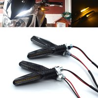 ingrosso yamaha r25-Per moto Indicatori di direzione Luci a LED Scorrimento di luce intermittente Lampeggiatori lampada per kawasaki YAMAHA YZF R25 R15 R6 R125 z750 FZ8