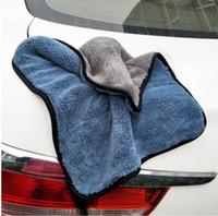 faser reinigungstücher großhandel-Autopflege Polieren Waschen Handtücher Plüsch Mikrofaser Waschen Trockentuch Starke Dicke Plüsch Polyesterfaser Auto Reinigungstuch (Einzelhandel)